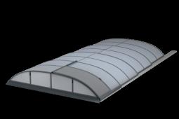 Moderní tvar zastřešení bazénu - Zastřešení bazénů POOLOR 3R